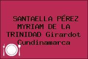 SANTAELLA PÉREZ MYRIAM DE LA TRINIDAD Girardot Cundinamarca