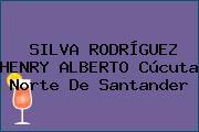 SILVA RODRÍGUEZ HENRY ALBERTO Cúcuta Norte De Santander
