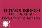 WHITAKER ROBINSON LUPE AFELIA Providencia Nariño
