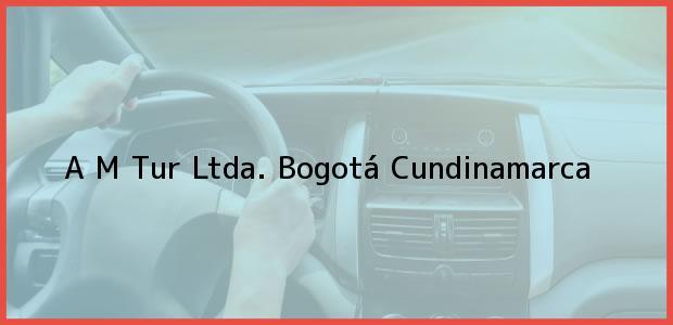 Teléfono, Dirección y otros datos de contacto para A M Tur Ltda., Bogotá, Cundinamarca, Colombia