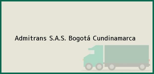 Teléfono, Dirección y otros datos de contacto para Admitrans S.A.S., Bogotá, Cundinamarca, Colombia