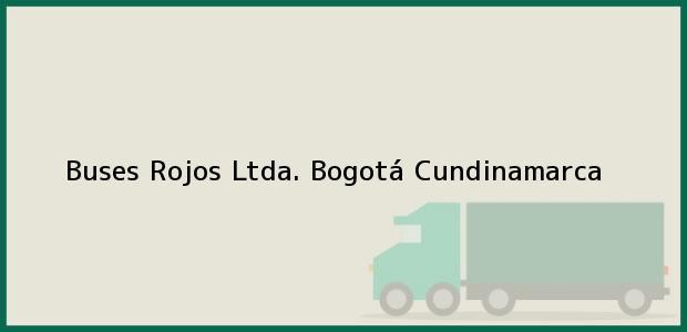 Teléfono, Dirección y otros datos de contacto para Buses Rojos Ltda., Bogotá, Cundinamarca, Colombia