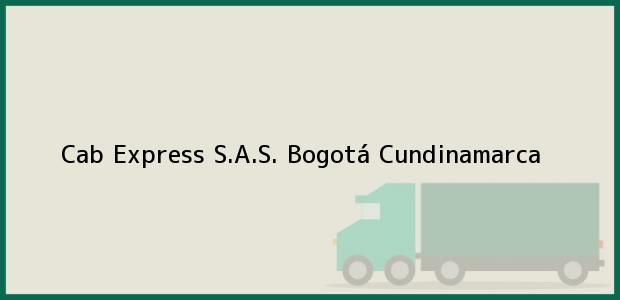 Teléfono, Dirección y otros datos de contacto para Cab Express S.A.S., Bogotá, Cundinamarca, Colombia