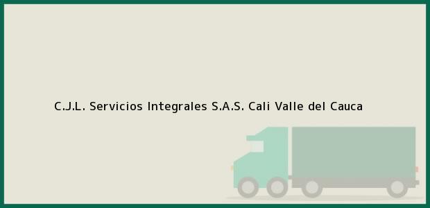 Teléfono, Dirección y otros datos de contacto para C.J.L. Servicios Integrales S.A.S., Cali, Valle del Cauca, Colombia