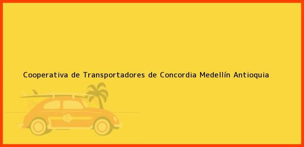 Teléfono, Dirección y otros datos de contacto para Cooperativa de Transportadores de Concordia, Medellín, Antioquia, Colombia