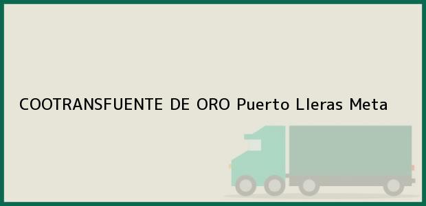 Teléfono, Dirección y otros datos de contacto para COOTRANSFUENTE DE ORO, Puerto Lleras, Meta, Colombia