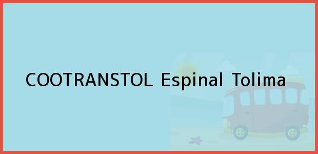 Teléfono, Dirección y otros datos de contacto para COOTRANSTOL, Espinal, Tolima, Colombia