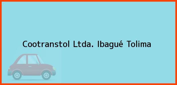 Teléfono, Dirección y otros datos de contacto para Cootranstol Ltda., Ibagué, Tolima, Colombia
