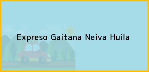 Teléfono, Dirección y otros datos de contacto para Expreso Gaitana, Neiva, Huila, Colombia