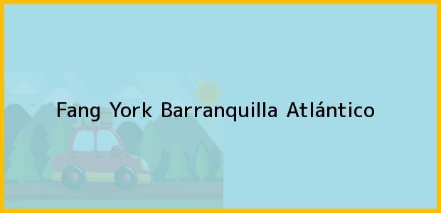 Teléfono, Dirección y otros datos de contacto para Fang York, Barranquilla, Atlántico, Colombia