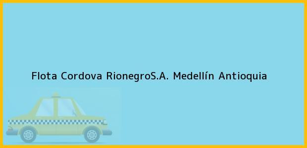 Teléfono, Dirección y otros datos de contacto para Flota Cordova RionegroS.A., Medellín, Antioquia, Colombia