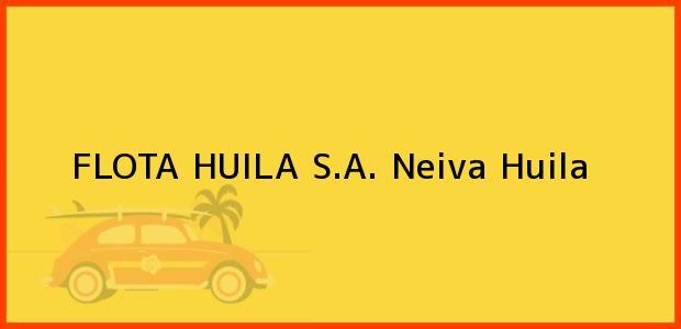 Teléfono, Dirección y otros datos de contacto para FLOTA HUILA S.A., Neiva, Huila, Colombia