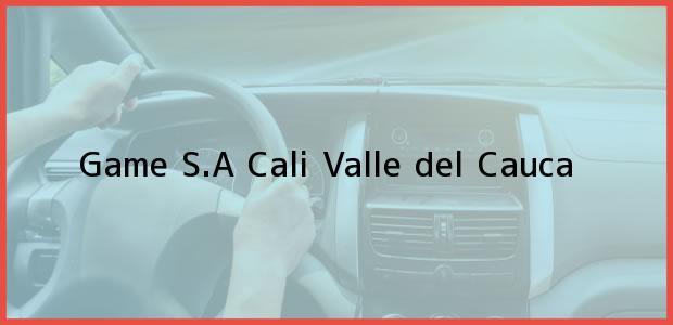 Teléfono, Dirección y otros datos de contacto para Game S.A, Cali, Valle del Cauca, Colombia