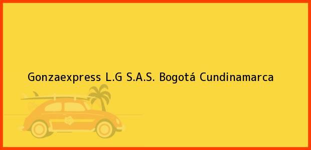 Teléfono, Dirección y otros datos de contacto para Gonzaexpress L.G S.A.S., Bogotá, Cundinamarca, Colombia