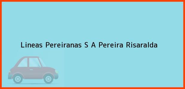 Teléfono, Dirección y otros datos de contacto para Lineas Pereiranas S A, Pereira, Risaralda, Colombia