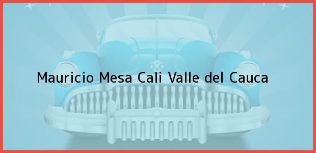 Teléfono, Dirección y otros datos de contacto para Mauricio Mesa, Cali, Valle del Cauca, Colombia