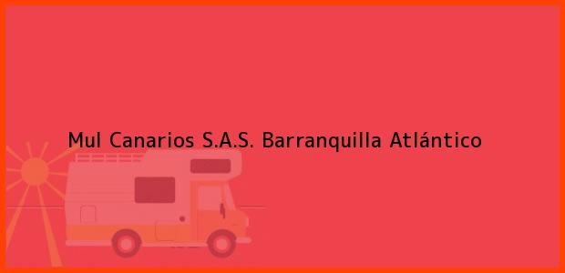 Teléfono, Dirección y otros datos de contacto para Mul Canarios S.A.S., Barranquilla, Atlántico, Colombia