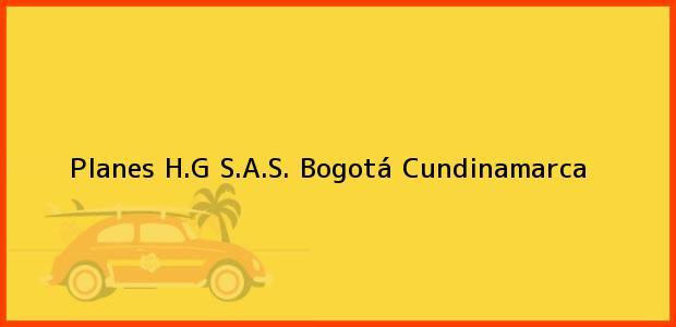 Teléfono, Dirección y otros datos de contacto para Planes H.G S.A.S., Bogotá, Cundinamarca, Colombia