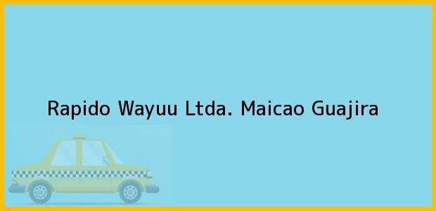 Teléfono, Dirección y otros datos de contacto para Rapido Wayuu Ltda., Maicao, Guajira, Colombia