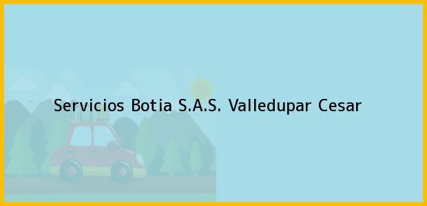 Teléfono, Dirección y otros datos de contacto para Servicios Botia S.A.S., Valledupar, Cesar, Colombia