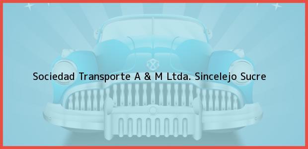 Teléfono, Dirección y otros datos de contacto para Sociedad Transporte A & M Ltda., Sincelejo, Sucre, Colombia