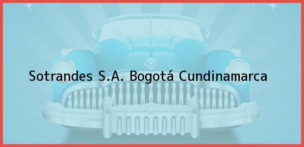 Teléfono, Dirección y otros datos de contacto para Sotrandes S.A., Bogotá, Cundinamarca, Colombia