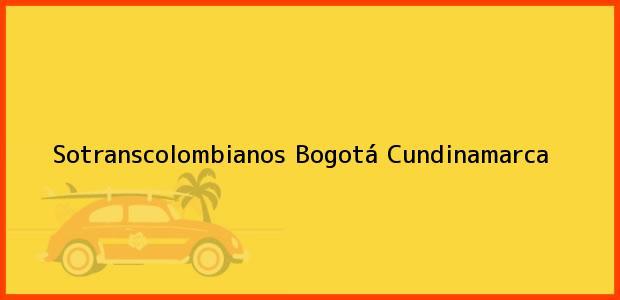 Teléfono, Dirección y otros datos de contacto para Sotranscolombianos, Bogotá, Cundinamarca, Colombia
