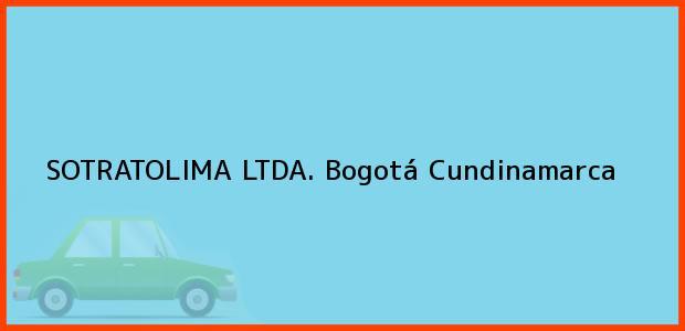 Teléfono, Dirección y otros datos de contacto para SOTRATOLIMA LTDA., Bogotá, Cundinamarca, Colombia