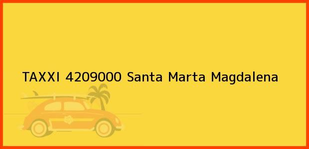 Teléfono, Dirección y otros datos de contacto para TAXXI 4209000, Santa Marta, Magdalena, Colombia