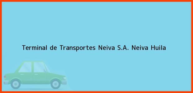 Teléfono, Dirección y otros datos de contacto para Terminal de Transportes Neiva S.A., Neiva, Huila, Colombia