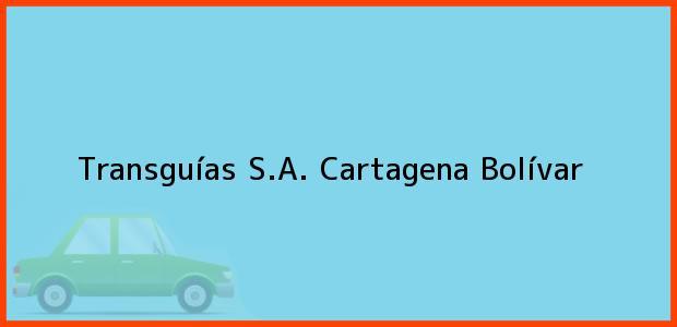 Teléfono, Dirección y otros datos de contacto para Transguías S.A., Cartagena, Bolívar, Colombia