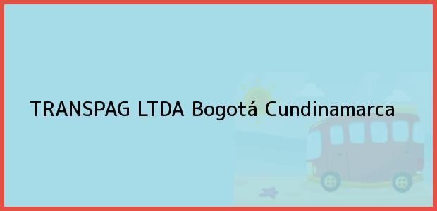 Teléfono, Dirección y otros datos de contacto para TRANSPAG LTDA, Bogotá, Cundinamarca, Colombia