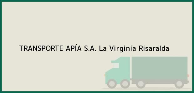 Teléfono, Dirección y otros datos de contacto para TRANSPORTE APÍA S.A., La Virginia, Risaralda, Colombia