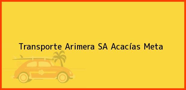 Teléfono, Dirección y otros datos de contacto para Transporte Arimera SA, Acacías, Meta, Colombia