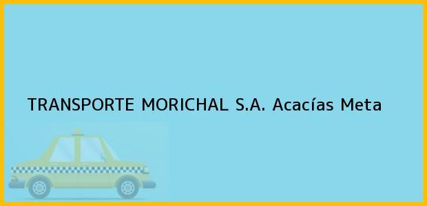 Teléfono, Dirección y otros datos de contacto para TRANSPORTE MORICHAL S.A., Acacías, Meta, Colombia