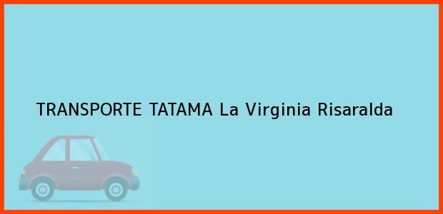 Teléfono, Dirección y otros datos de contacto para TRANSPORTE TATAMA, La Virginia, Risaralda, Colombia