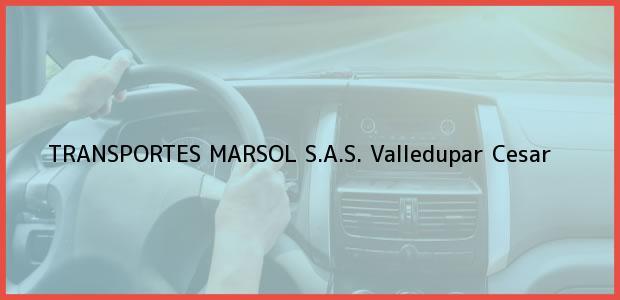 Teléfono, Dirección y otros datos de contacto para TRANSPORTES MARSOL S.A.S., Valledupar, Cesar, Colombia