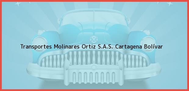 Teléfono, Dirección y otros datos de contacto para Transportes Molinares Ortiz S.A.S., Cartagena, Bolívar, Colombia