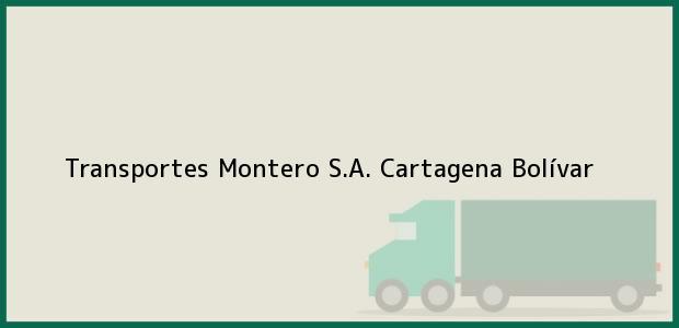 Teléfono, Dirección y otros datos de contacto para Transportes Montero S.A., Cartagena, Bolívar, Colombia