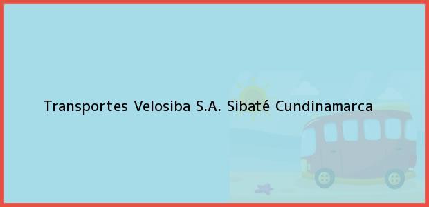 Teléfono, Dirección y otros datos de contacto para Transportes Velosiba S.A., Sibaté, Cundinamarca, Colombia