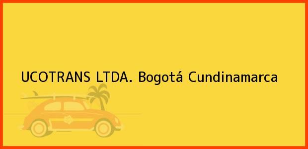 Teléfono, Dirección y otros datos de contacto para UCOTRANS LTDA., Bogotá, Cundinamarca, Colombia