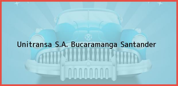 Teléfono, Dirección y otros datos de contacto para Unitransa S.A., Bucaramanga, Santander, Colombia