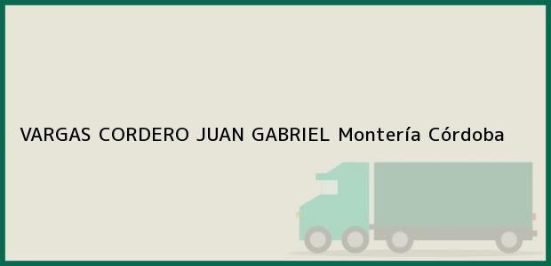Teléfono, Dirección y otros datos de contacto para VARGAS CORDERO JUAN GABRIEL, Montería, Córdoba, Colombia