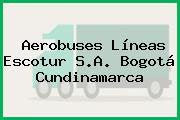 Aerobuses Líneas Escotur S.A. Bogotá Cundinamarca