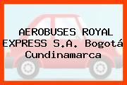 AEROBUSES ROYAL EXPRESS S.A. Bogotá Cundinamarca