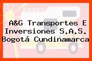 A&G Transportes E Inversiones S.A.S. Bogotá Cundinamarca