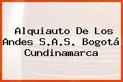Alquiauto De Los Andes S.A.S. Bogotá Cundinamarca
