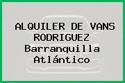 ALQUILER DE VANS RODRIGUEZ Barranquilla Atlántico
