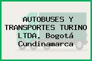 AUTOBUSES Y TRANSPORTES TURINO LTDA. Bogotá Cundinamarca