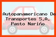 Autopanamericano De Transportes S.A. Pasto Nariño